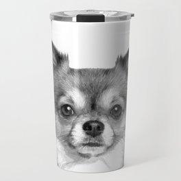 Black and White Chihuahua Travel Mug