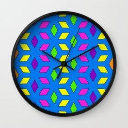 Rhombus Pattern Wall Clock