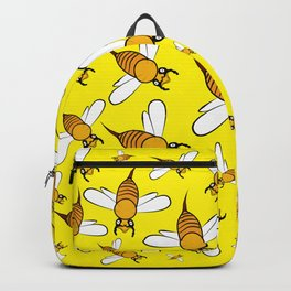 Bees pattern in yellow Backpack