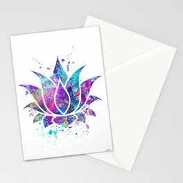 Lotus Flower Watercolor Print Wall Art Wedding Gift Zen decor Stationery Cards