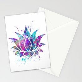 Lotus Flower Watercolor Print Wall Art Wedding Gift Zen decor Stationery Cards