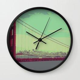 Golden Gate Bridge from Marin Wall Clock