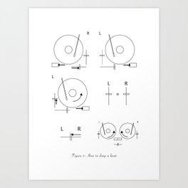 Drop a Beat! Art Print