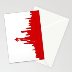 Seattle Skyline silhouette Stationery Cards
