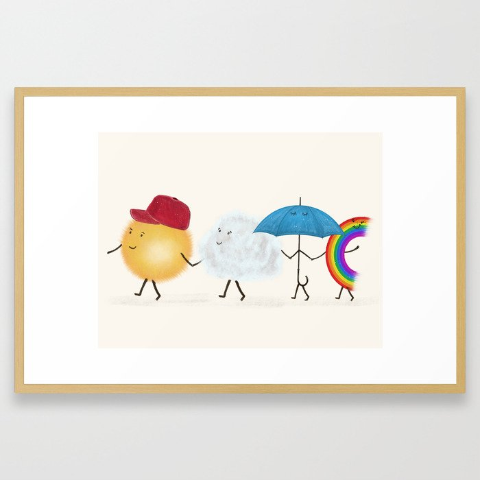 happy days Framed Art Print