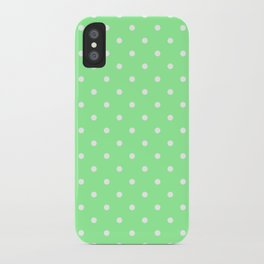 White Dots on Chrysoprase iPhone Case