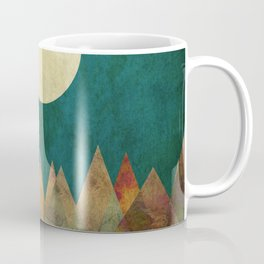 Still Waters Run Deep, Mountains Moon Landscape Coffee Mug