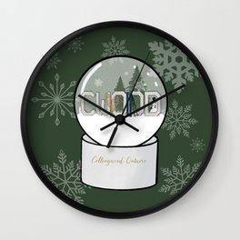 CWOOD (Collingwood) Snow Globe Wall Clock