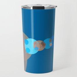 constance - bright abstract design of orange blue grey and aquamarine Travel Mug