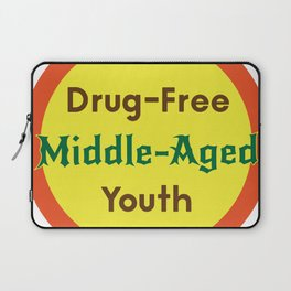Drug-Free Middle-Aged Youth Laptop Sleeve