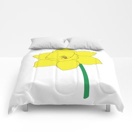 Daffodil Illustration Comforters