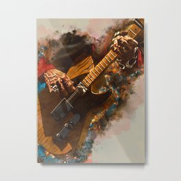 Keith Richards's five string guitar Metal Print