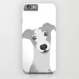 Whippet Dog Portrait iPhone Case