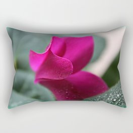 Flower Furls Cyclamen Rectangular Pillow