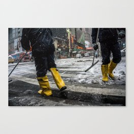 NYC Blizzard of 2015 Canvas Print