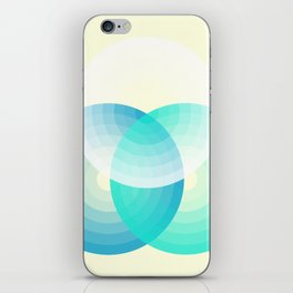 Three colour circles inverted, inspired by Lacouture's Répertoire chromatique iPhone Skin