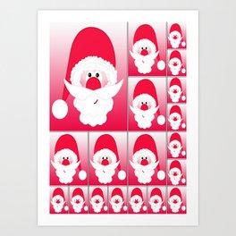 Santa Claus Collage CB Art Print