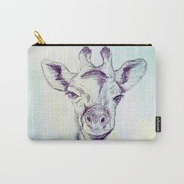 Watercolor and Ink Giraffe Carry-All Pouch