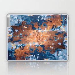 Copper and Denim Abstract Laptop & iPad Skin