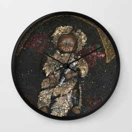 Our resident Bois Spirit from Haiti Wall Clock