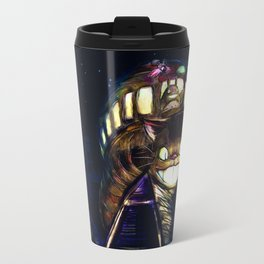 Cat Bus is In Your Town! Miyazaki Tribute Digital Fan Painting Travel Mug
