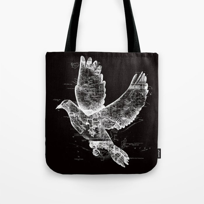 Wanderlust White Tote Bag