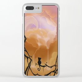 Fluffy waterfall Clear iPhone Case