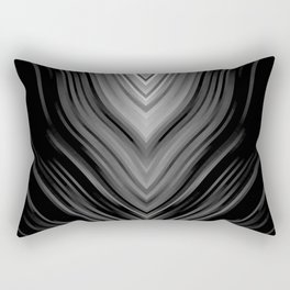 stripes wave pattern 3 bwbi Rectangular Pillow