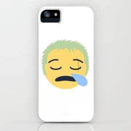 Roronoa Zoro Emoji Design iPhone Case