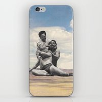 wrestling iPhone & iPod Skins featuring Pink Rocks Wrestling by Neil Campau