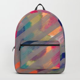 Ribbon Party - Gray and Rainbow Stripe Palette Backpack
