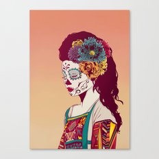 Mexican Skull Lady Canvas Print