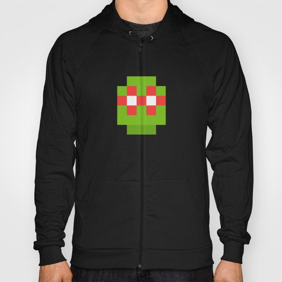 hero pixel green red Hoody
