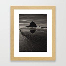 Hay Stack Rock Framed Art Print