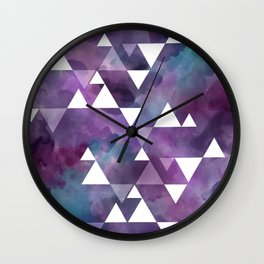 berry watercolor triangles Wall Clock