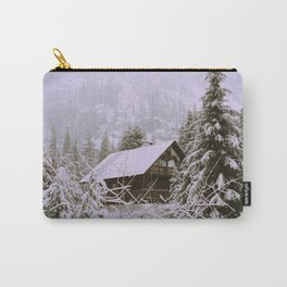 A cabin amongst the snow Carry-All Pouch