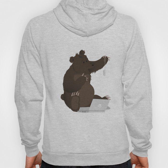 Bear With Me Bro! Poster Hoody