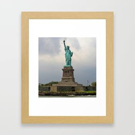 Miss Liberty Framed Art Print