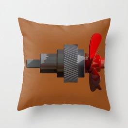 Propeller with gear Throw Pillow
