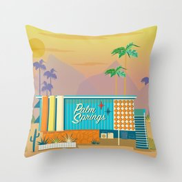 Palm Springs Apartment Throw Pillow
