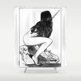 asc 909 - La chasse à la licorne (Riding Death) Shower Curtain