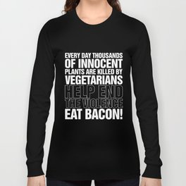 Eat Bacon Mens Funny  Chef Bbq Fathers Day Birthday Gift For Dad Long Sleeve T-shirt