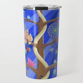 Mandala Tree of Life and Love Travel Mug