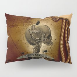 Mechanical skull Pillow Sham