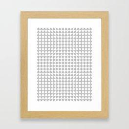 White and Gray Diamonds Framed Art Print
