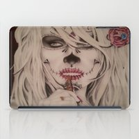 wes anderson iPad Cases featuring Modified Portrait of Pamela Anderson by Skillz&Ink
