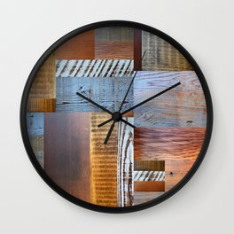 Reclaimed Wood Collage 4.0 Wall Clock