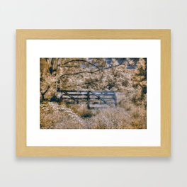 Infrared Fence Framed Art Print