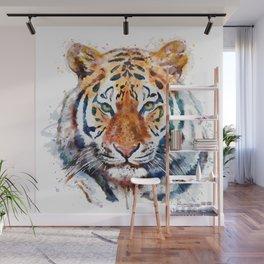 Tiger Head watercolor Wall Mural