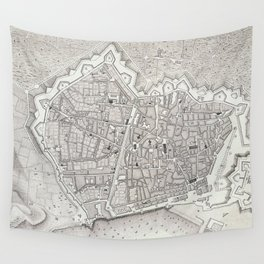 Vintage Map of Barcelona Spain (1806) Wall Tapestry